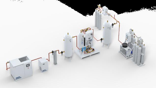 Assieme Concentratore 1 linea + III fonte + booster